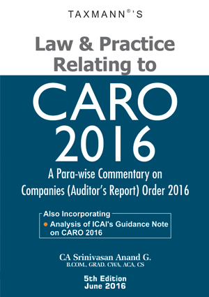 Law & Practice Relating to CARO 2016