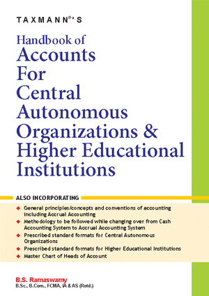 Handbook of Accounts for Central Autonomous Organizations & Higher Educational Institutions